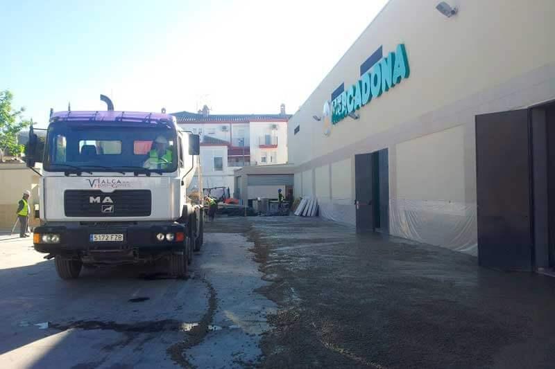 Vialca Hormigones - vista camión hormigón